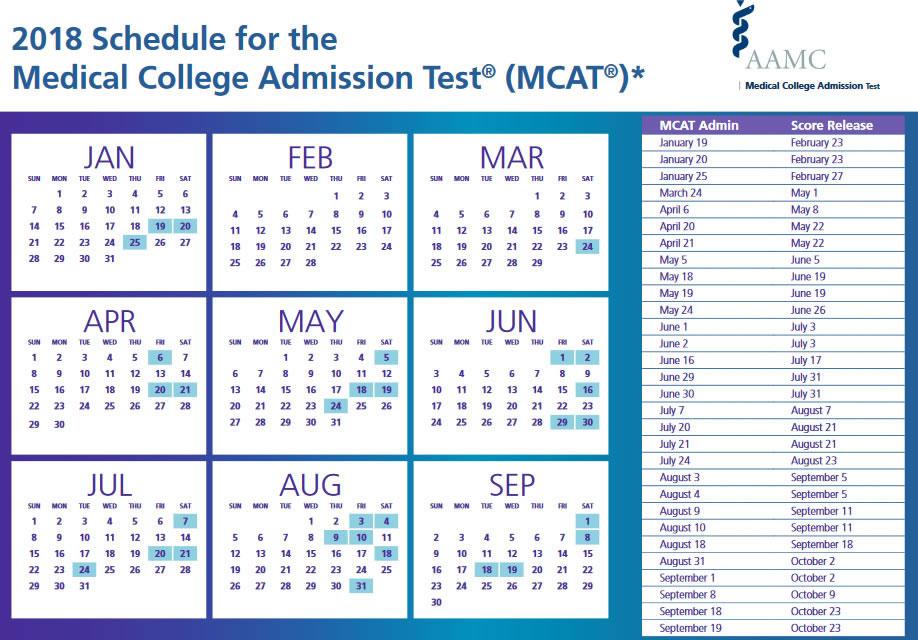 Mcat exam dates